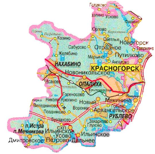 участки Красногорский район